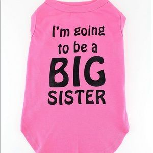 "Other - Gray Doggie ""I am going to be a big Sister"" shirt"